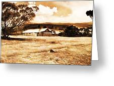 Barn And Field Greeting Card