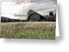 Barn And Grass Greeting Card