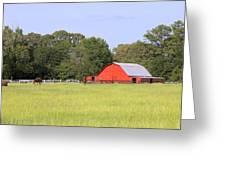Barn And Pasture Greeting Card