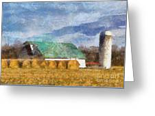 Barn And Silo In West Virginia Greeting Card