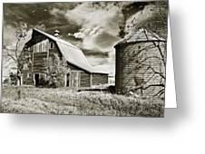 Barn And Silo Greeting Card