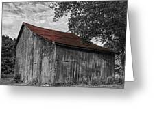 Barn At Avenel Plantation - Red Roof Greeting Card by Steve Hurt