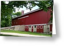 Barn At Greene Valley Greeting Card