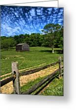 Barn At Hartwood Acres Under Beautiful Sky Greeting Card