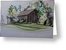 Old Barn At Wason Pond Greeting Card