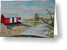Barn Beside Cooks Creek 2 - Sold Greeting Card