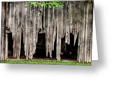 Barn Boards - Rustic Decor Greeting Card
