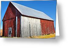 Barn By Side Of Road Greeting Card