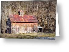 Barn By The Bluffs Greeting Card