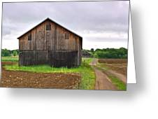 Barn By The Road Square Greeting Card