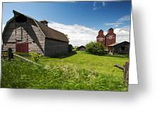 Barn Days Of Old Greeting Card