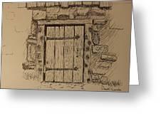 Barn Door Greeting Card