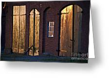 Barn Door Lighting Greeting Card