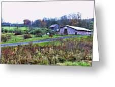 Barn - End Of The Road Greeting Card