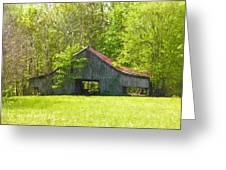 Barn From The Forgotten Farm Greeting Card