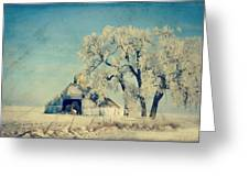 Winter Time Blues Greeting Card