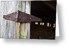 Barn Hinge 2 Greeting Card