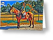 Barn Horse Two Greeting Card
