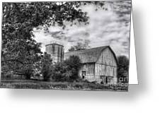 Barn In Black And White Greeting Card