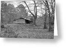 Barn In Black Greeting Card