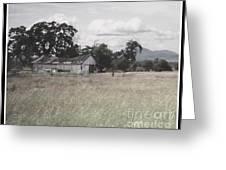 Barn In Black N White Greeting Card