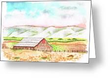 Barn In Cambria - California Greeting Card by Carlos G Groppa