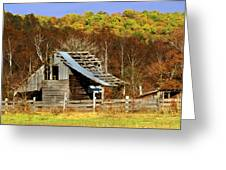 Barn In Fall Greeting Card by Marty Koch