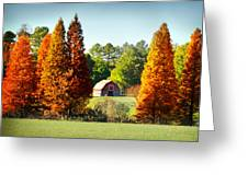 Barn In Fall Greeting Card