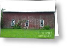 Barn In Jamestown Ny Greeting Card