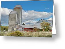 Barn In The Clouds Greeting Card