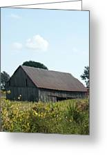 Barn In The Grass Greeting Card