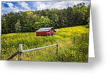 Barn In The Meadow Greeting Card