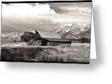 Barn In The Tetons Greeting Card