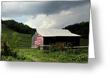 Barn In The Usa Greeting Card