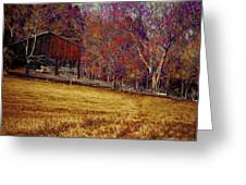 Barn In The Woods-featured In Barns Big And Small Group Greeting Card