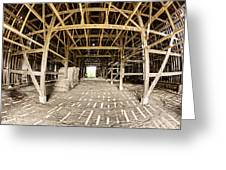 Barn Interior Greeting Card