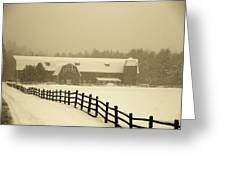 Barn Lake Placid N Y Greeting Card