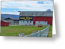 Barn - Mail Pouch Tobacco Greeting Card
