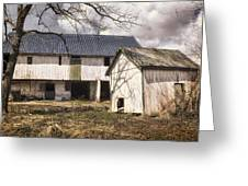 Barn Near Utica Mills Covered Bridge Greeting Card