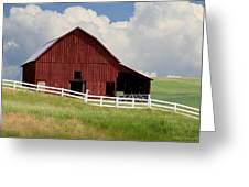 Barn Of The Palouse Greeting Card by Melisa Meyers