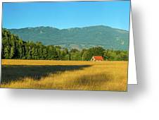 Barn On Cascade Road In Rockport Greeting Card