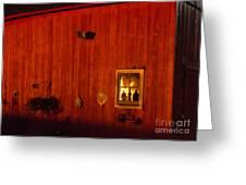 Barn On Fire Greeting Card