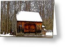 Barn On Great Hill Road Greeting Card