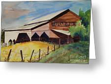 Barn On Rt. 42 Greeting Card