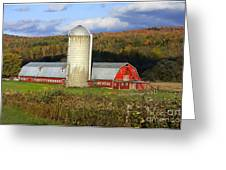 Barn On The River Rd. Greeting Card