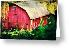 Barn Red Sunset Greeting Card