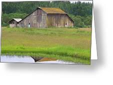 Barn Reflection Greeting Card