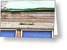 Barn Repairs Greeting Card