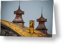Barn Roof In Color Greeting Card