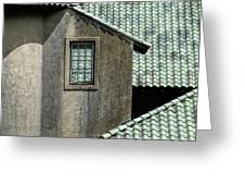 Barn Roofs At The Crane Estate Greeting Card